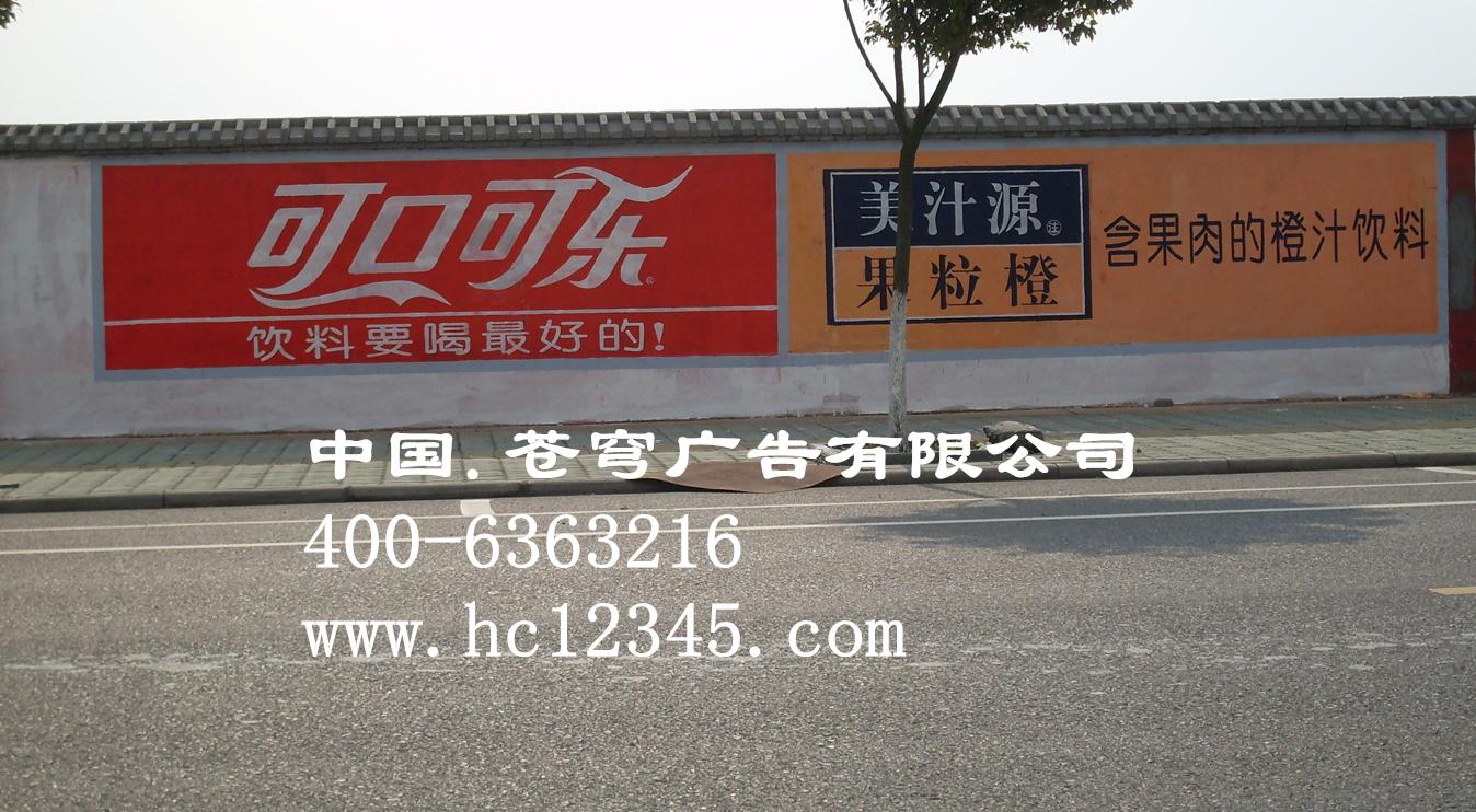 广州墙体喷绘膜广告—美汁源